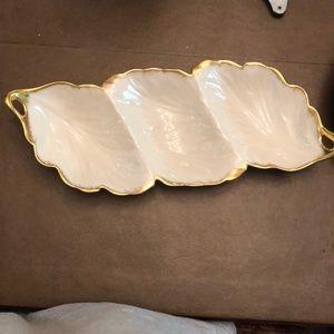 Other - Gold Trim Porcelain Dish